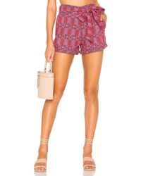 Tularosa Claire Embroidered Short - Rosa