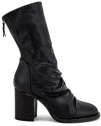 Free People Ellee Block Heel Boot - Black