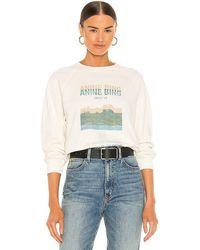 Anine Bing Arlo Desert Road Sweatshirt - White