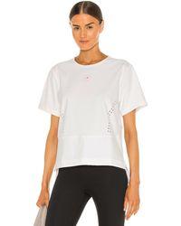 adidas By Stella McCartney Truestr Tee In White. Size S.