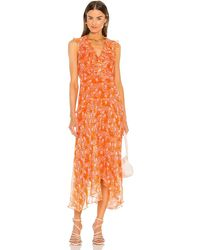 Saloni Vestido rita - Naranja