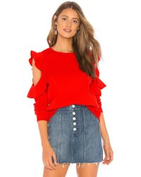 Rebecca Minkoff - Gracie Sweatshirt In Red - Lyst
