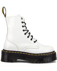 Dr. Martens Jadon Polished Smooth Boot - Weiß