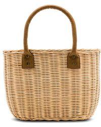 Hat Attack Wicker Small Basket Bag - Natur