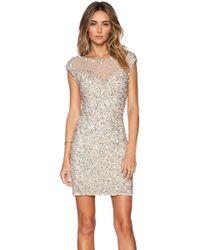Parker Black - Montclair Sequin Dress In Cream - Lyst