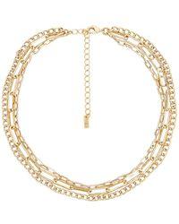 Natalie B. Jewelry Набор Ожерелий Ayala В Цвете Золотой - Металлик