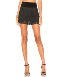 Norma Kamali Fringe All Over Shorts - ブラック