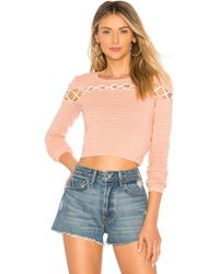 Lovers + Friends - All Tied Up Jumper In Rose - Lyst