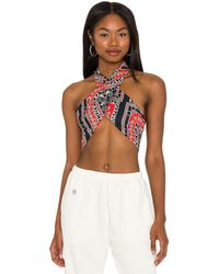 superdown Alondra Halter Wrap Top - Rot