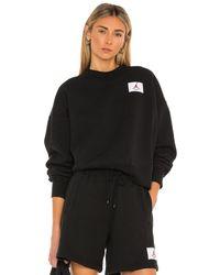 Nike Flight Fleece Crew Sweatshirt - Schwarz