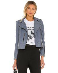 AllSaints Fern Biker Jacket - Grau