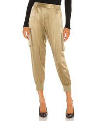 ATM Silk Cargo Pull On Trousers - Multicolour