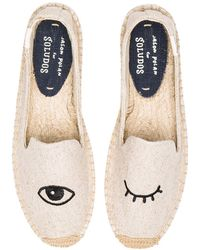 Soludos - Wink-Embroidery Canvas Espadrilles - Lyst
