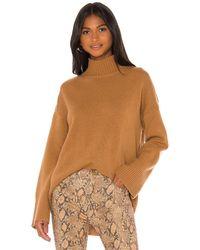 FRAME Knit Turtleneck Sweater - Brown