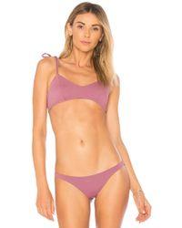 Vitamin A - Zuma Bikini Top In Mauve - Lyst