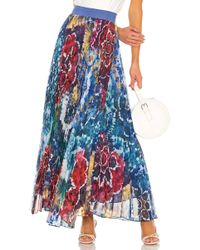 0fdd32bd62 Alice + Olivia 'katz' Metallic Jacquard Pleated Maxi Skirt in Metallic -  Lyst