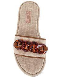 Schutz Шлепанцы Belah В Цвете Natural & Wood - Многоцветный