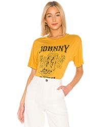 Daydreamer Johnny Cash Boots Tee - Yellow
