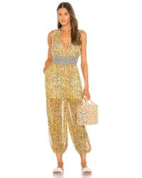 Free People Marias Jumpsuit - Yellow
