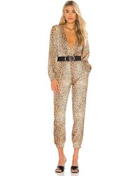 Michael Costello X Revolve Relaxed Surplice Jumpsuit - Brown