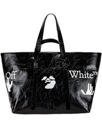 Off-White c/o Virgil Abloh Сумка Тоут Commercial В Цвете Black & White - Черный