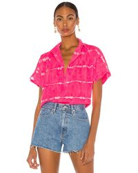 Cali Dreaming Camisa abotonada motley - Rosa