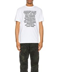 Pleasures Free Thinking グラフィックtシャツ - ホワイト