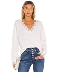 Generation Love Aleyna Lace Sweater - White