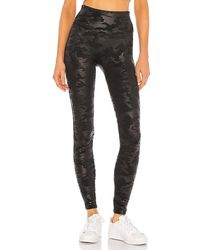 Spanx Faux Leather Camo Leggings - Black