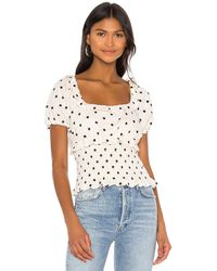 Tularosa Cora Embroidered Top - White
