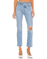 Levi's Wedgie Straight Ankle - Blue