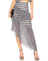LPA - Asymmetric Ruffle Maxi Skirt In Black - Lyst