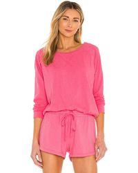 Bobi Sustainable Slub Terry Sweatshirt - Pink