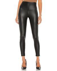 Yummie Faux Leather Leggings - Black