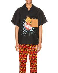 Palm Angels ショートスリーブシャツ - ブラック
