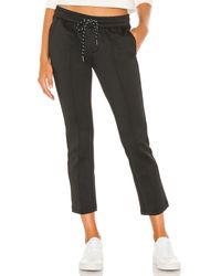 Pam & Gela Pintuck Crop Track Pant - Black