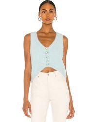 For Love & Lemons Anastasia Sweater Vest - Blue