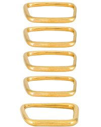 Soko Laini Stacking Rings - Metallic