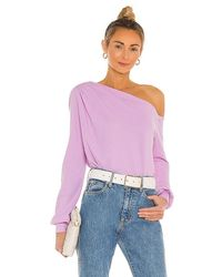 Lamade Audrey Off Shoulder Pullover - Purple