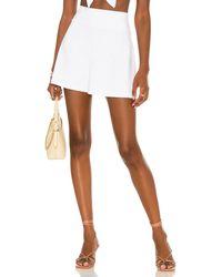 Susana Monaco Shorts mit hoher Taille - Weiß