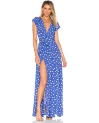 Tularosa Sid Wrap Dress - Blue