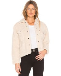 Levi's - All Over Sherpa Trucker Jacket In Cream - Lyst