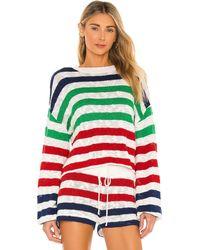 Beach Riot Свитер Ava Sweater In В Цвете Морская Полоска - Красный