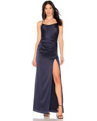 Alice + Olivia - Diana Cowl Neck Maxi In Navy - Lyst