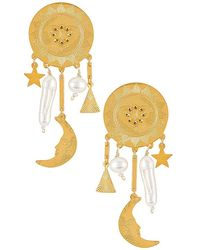 Mercedes Salazar Universe Earrings - Metallic