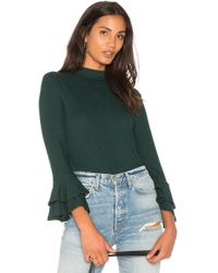 1.STATE - Mock Neck Top With Double Ruffle Cuff - Lyst
