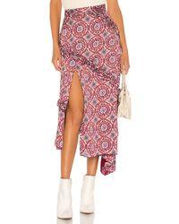 MAJORELLE Tallulah Midi Skirt - Rot