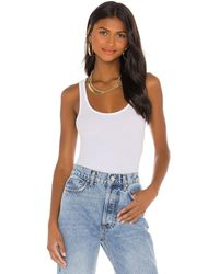 ATM Micro Modal Ribbed Boy Tank - White