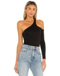 superdown Brianna One Sleeve Bodysuit - Black