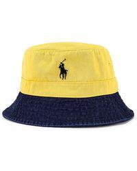 Polo Ralph Lauren Панама В Цвете Yellow & Newport Navy - Желтый